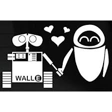 Disney Decal Wall E Eve Robot Love Window Sticker Themed Classroom Displays And Decoration Amazon Com
