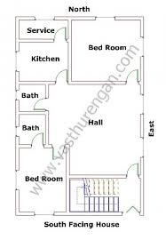south facing houses vastu plan 1