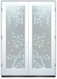 frosted glass french doors interior