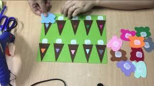 Cách làm đồ chơi học tập cho trẻ mầm non - Kem sắc màu - YouTube