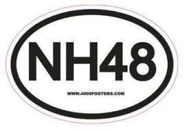 Buy Nh48 Vinyl Sticker New Hampshire 48 Hiking White Mountains Car Sticker