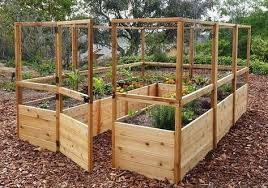 Outdoor Living Today Rb812dfo Raised Garden Bed 8 X 12 With Deer Fence Kit Sloping Garden The P Cedar Raised Garden Beds Garden Bed Kits Garden Boxes Raised