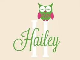 Sleepy Owl With Script Name Monogram Wall Decal Set Tweet Heart Home Design