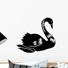 Abstract Black Swan Wall Decal Wallmonkeys Com