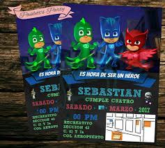 Heroes En Pijamas Invitaciones Heroes En Pijamas Invitaciones