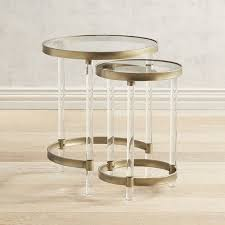 gold round nesting side tables