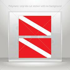 5 5 X 2 Diver Down Sticker Vinyl Scuba Diver Flag Vehicle Window Sticker For Sale Online