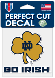 Notre Dame Fighting Irish 4x4 Auto Decal Blue 5718790