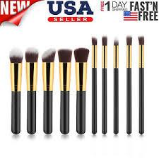 10pc makeup brushes tool set cosmetic