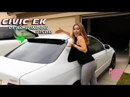 Adding A Rear Visor To The Honda Civic Hic Rear Window Visor Youtube