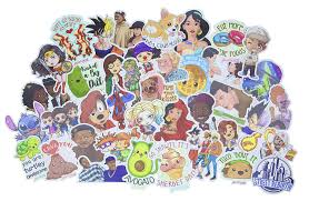 Cool Decals For Kids And Adults Decal For Cars Water Bottle Flask Skateboard Laptop Longboard Etc Cartoon Baby Couples Sticker Pack Hand Drawn Stickers Average Size 4 5 Inches Waterproof Vinyl Stickers