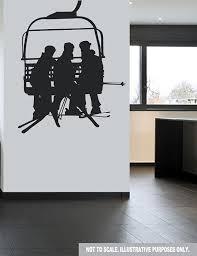 Ski Lift Chair Lift Skiers Winter Wall Decal By Designerwallz 12 99 Ski Lift Chair Chair Lift Ski Chalet