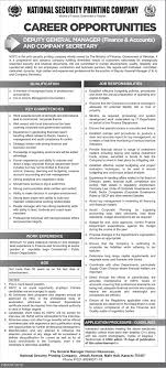 Deputy General Manager Finance & Accounts Jobs Archives - Prepistan Jobs