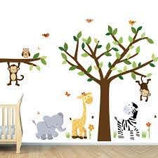 Decorate Your Nursery With Safari Wall Decals Safari Wall Etsy In 2020 Nursery Wall Stickers Kids Room Wall Decals Nursery Wall Decals