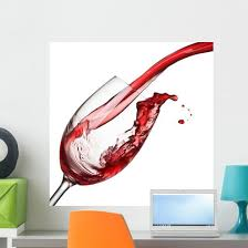 Splash Wine White Wall Decal Wallmonkeys Com