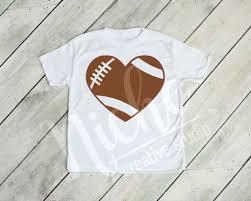 Heart Football Decal Niche Creative Studio