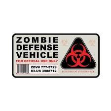 Zombie Defense Vehicle Bumper Sticker Big Cat Sticker Shack Http Www Amazon Com Dp B007hszile Ref Cm Sw R Pi D Bumper Stickers Vinyl Bumper Stickers Zombie