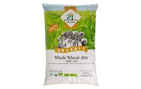 24 mantra organic whole wheat atta pack