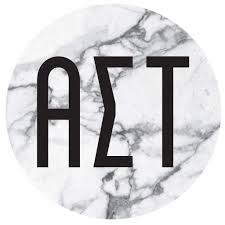 Alpha Sigma Tau Sticker I Decal I Marble I Round 4 Inches M D Sorority Gifts