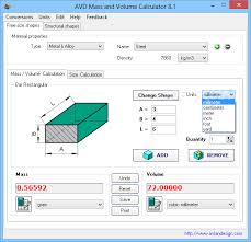avd m and volume calculator 8 1