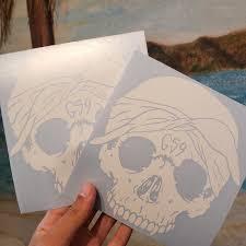 Includes One G59 Solid Skull Logo Decals Vinyl Car Depop