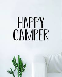 Happy Camper Quote Wall Decal Sticker Bedroom Room Art Vinyl Home Deco Boop Decals