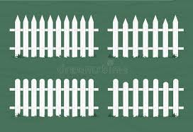 Wooden Fence In White Color Vector Illustration Stock Vector Illustration Of Outdoor Sign 139191288