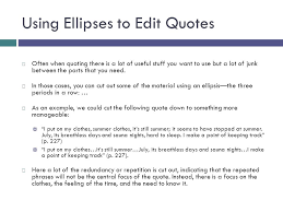 using quotations a guide to improving quote use in essays ppt