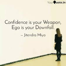 confidence is your weapon quotes writings by jitendra miya