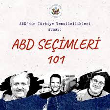 U.S. Embassy Ankara, TURKEY - 🇺🇸ABD Seçimleri 101: ABD seçim sistemine  dair merak edilen konuların konuşulacağı yeni bir #podcast🎙️serisine  başlıyoruz! İlk bölüm 19 Ekim Pazartesi yayında olacak. Çalışma  arkadaşlarımız Dave, Joe ve