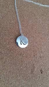 letter k jewelry monogram pendant