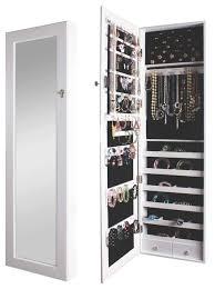door mirrored jewelry cabinet