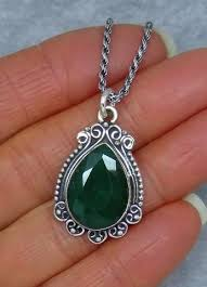 genuine emerald necklace vintage