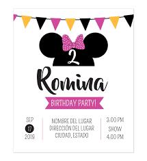 Invitacion Cumpleanos Minnie Fiesta Tarjeta De Cumpleanos Minnie