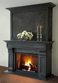 cast stone fireplace mantels in