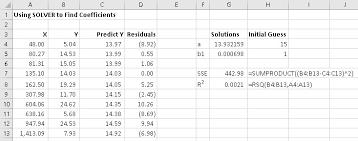 solver regression excel with excel master
