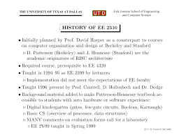 history of ee 2310 initially planned