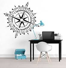 Compass Wall Decal Removable Sticker Vinyl Decor Art Transfer Travel Adventure Ebay