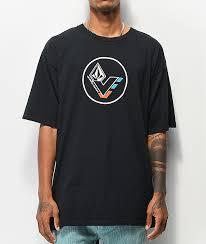 vol v line black t shirt zumiez