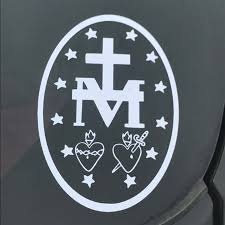 Miraculous Medal Miraculous Medal Decal Car Decal Catholic Etsy