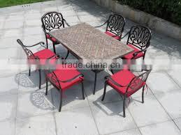 patio outdoor furniture cast aluminum