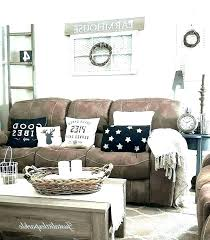 brown leather couch pillow ideas