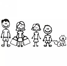 My Family Dad Mom Girl Boy Pet Cat Dog Car Truck Decal Sticker Car Stickers Funny Family Decals Family Cartoon
