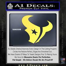 Houston Texans Decal Sticker Logo A1 Decals