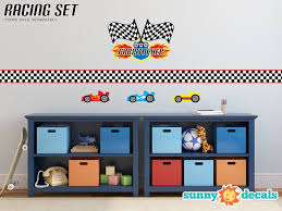 Sunny Decals Race Cars Fabric Wall Decal Wayfair
