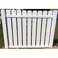 Amazon Com Pvc Vinyl Fence Panel Dog Ear Pickets 5 High X 6 Wide Section Garden Outdoor
