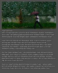 ▷ bernapaskan kata bernapaskan kata hujan pertama