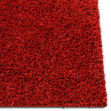 Solid Retro Modern Red Shag 2x7 2 X 7 3 Runner Area Rug Plain Plush Easy Care Thick Soft Plush Living Room Kids Bedroom Ruglots Com