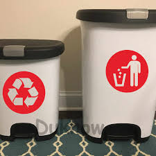 Trash Can Decor Classification Sign Vinyl Art Decal Sticker Recycle Bin And General Waste Logo Art Decals Home Decoration Wall Stickers Aliexpress
