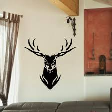 Shop Angry Deer Head Vinyl Wall Art Decal Sticker Overstock 10642630